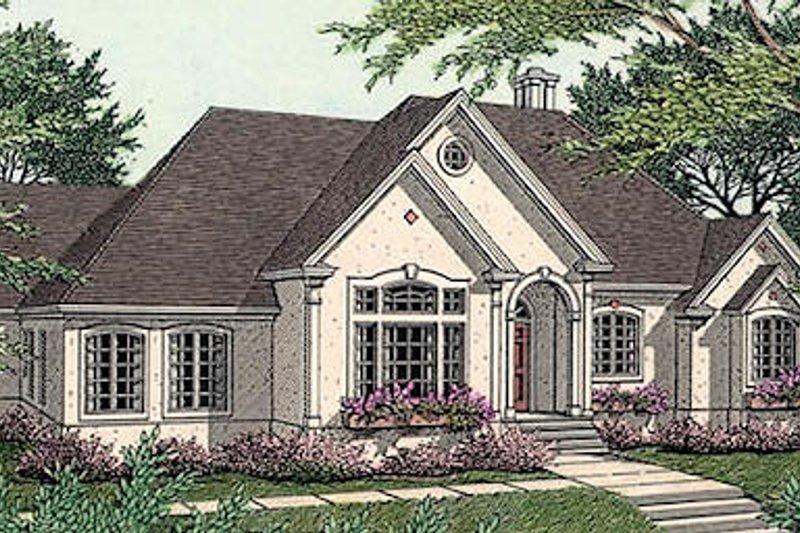 Dream House Plan - European Exterior - Front Elevation Plan #406-186