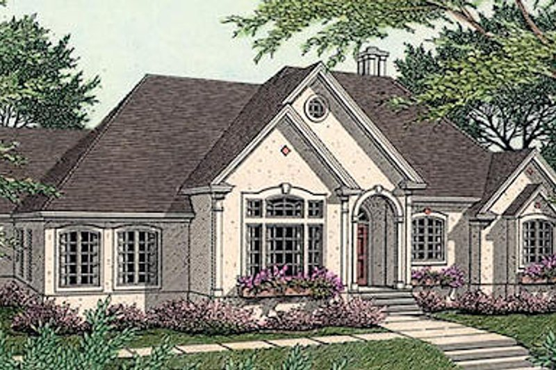 Home Plan - European Exterior - Front Elevation Plan #406-186