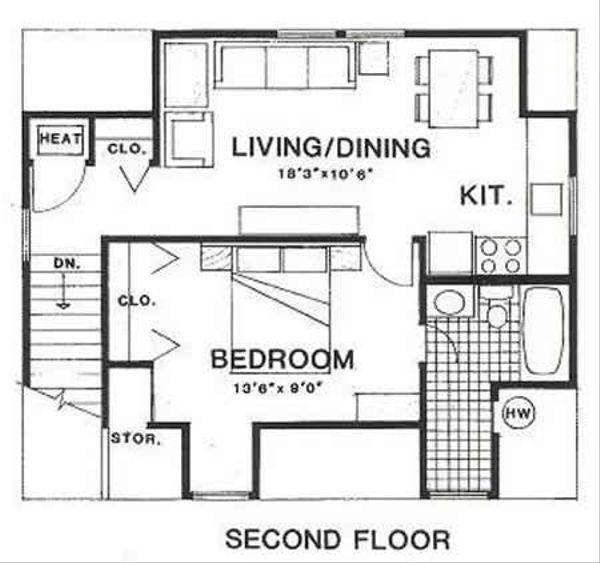 Country Floor Plan - Upper Floor Plan Plan #116-228