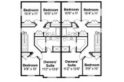 Traditional Style House Plan - 8 Beds 5 Baths 2982 Sq/Ft Plan #124-816
