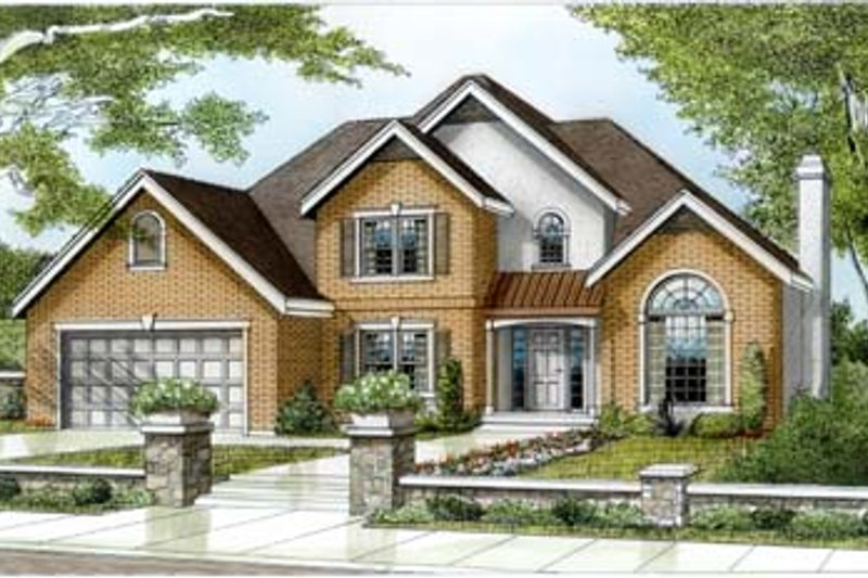 House Design - European Exterior - Front Elevation Plan #100-228