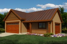 Home Plan Design - Exterior - Front Elevation Plan #118-123