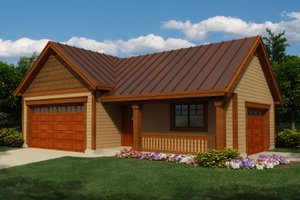 Dream House Plan - Exterior - Front Elevation Plan #118-123