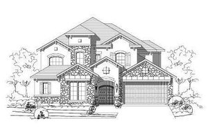 European Exterior - Front Elevation Plan #411-708