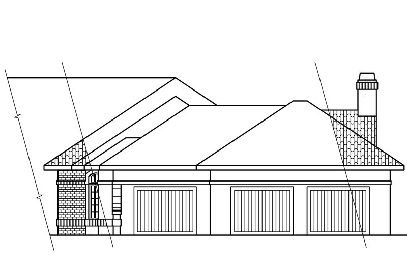 Ranch Exterior - Other Elevation Plan #124-238 - Houseplans.com
