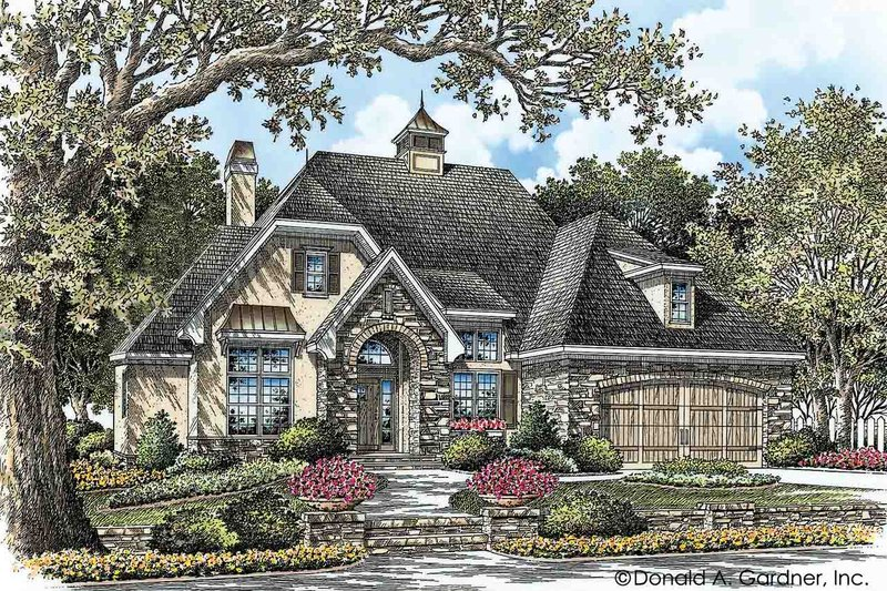 European Style House Plan - 3 Beds 2 Baths 1828 Sq/Ft Plan #929-28 Exterior - Front Elevation