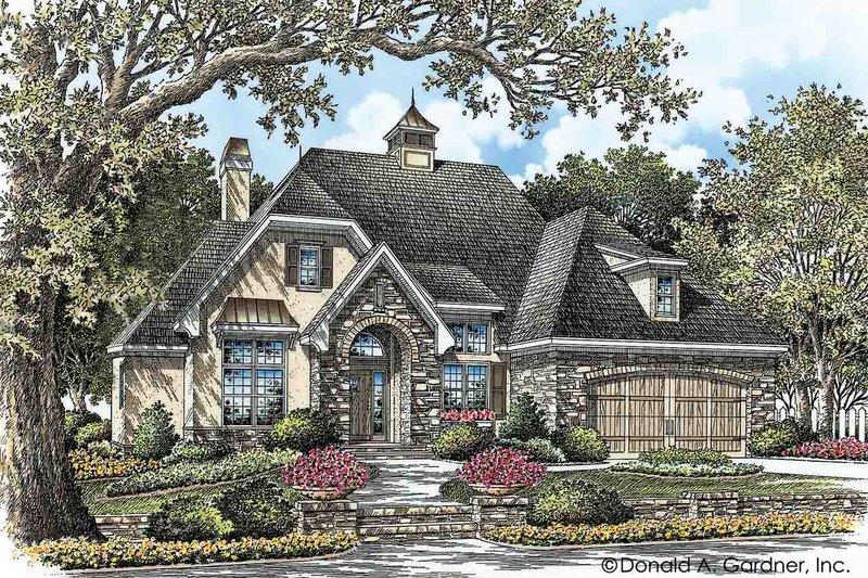 House Plan Design - European Exterior - Front Elevation Plan #929-28