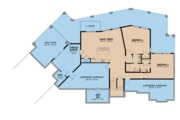 Contemporary Style House Plan - 3 Beds 2.5 Baths 3719 Sq/Ft Plan #923-86 Floor Plan - Lower Floor Plan
