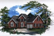 European Style House Plan - 3 Beds 2.5 Baths 2009 Sq/Ft Plan #41-147 Exterior - Front Elevation
