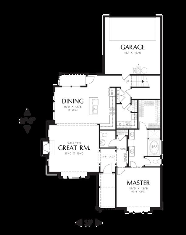 Craftsman Floor Plan - Main Floor Plan Plan #48-529