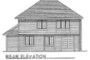 Traditional Style House Plan - 4 Beds 2.5 Baths 2153 Sq/Ft Plan #70-317 Exterior - Rear Elevation