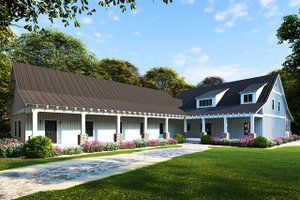 House Plan Design - Farmhouse Exterior - Front Elevation Plan #923-104