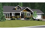 Ranch Style House Plan - 2 Beds 2 Baths 1751 Sq/Ft Plan #126-192 Exterior - Front Elevation