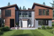 Contemporary Style House Plan - 4 Beds 3 Baths 3398 Sq/Ft Plan #1066-66 Exterior - Rear Elevation