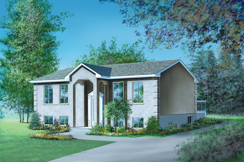 European Style House Plan - 2 Beds 1 Baths 1064 Sq/Ft Plan #25-1086 Exterior - Front Elevation