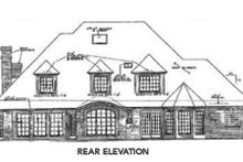 European Exterior - Rear Elevation Plan #310-601