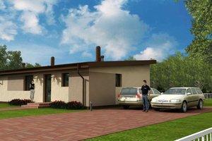 Modern Exterior - Front Elevation Plan #538-14