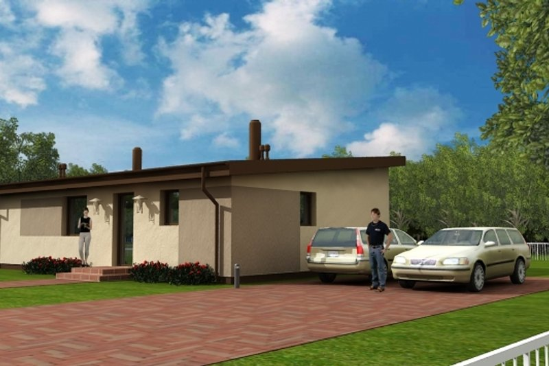 Modern Style House Plan - 3 Beds 1 Baths 1098 Sq/Ft Plan #538-14 Exterior - Front Elevation