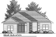 Craftsman Style House Plan - 3 Beds 2 Baths 1509 Sq/Ft Plan #70-903 Exterior - Rear Elevation