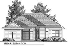 Craftsman Exterior - Rear Elevation Plan #70-903