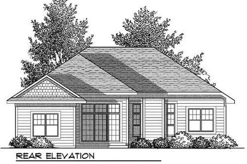 Craftsman Exterior - Rear Elevation Plan #70-903 - Houseplans.com
