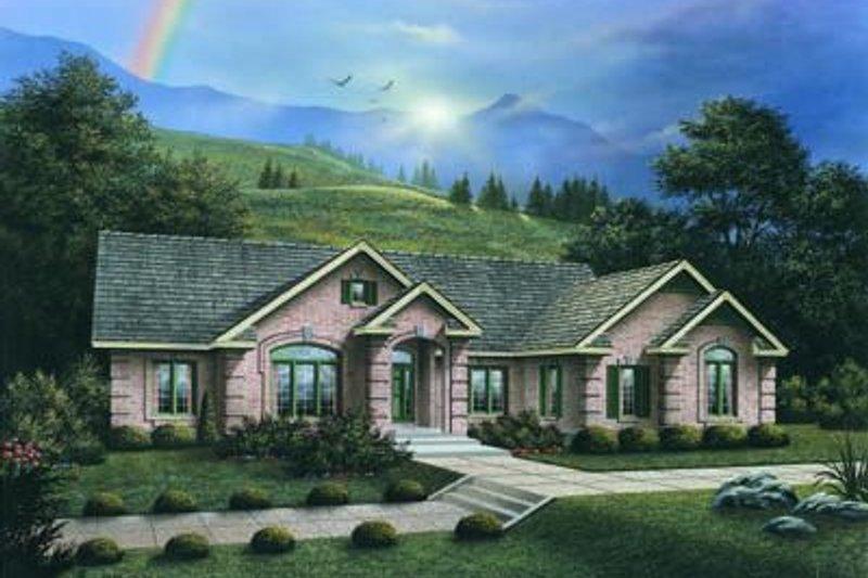 House Design - European Exterior - Front Elevation Plan #57-175