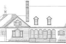 Southern Exterior - Rear Elevation Plan #137-240