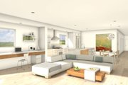 Modern Style House Plan - 2 Beds 2 Baths 2198 Sq/Ft Plan #497-28 Interior - Family Room