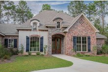 Home Plan - European Exterior - Front Elevation Plan #430-130