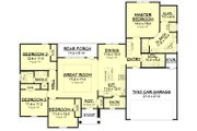 Ranch Style House Plan - 4 Beds 2 Baths 1889 Sq/Ft Plan #430-182 Floor Plan - Main Floor Plan