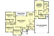 Ranch Style House Plan - 4 Beds 2 Baths 1889 Sq/Ft Plan #430-182 Floor Plan - Main Floor