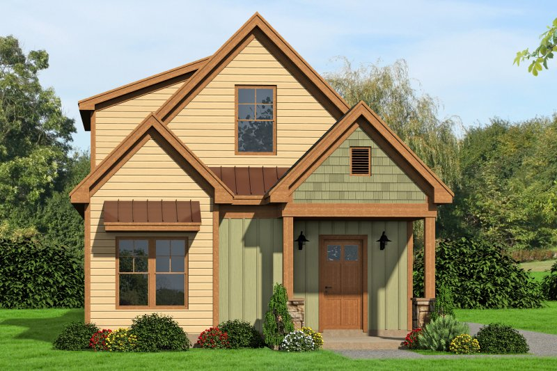 Traditional Style House Plan - 3 Beds 2 Baths 1997 Sq/Ft Plan #932-18 Exterior - Front Elevation