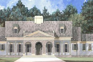 European Exterior - Front Elevation Plan #119-243
