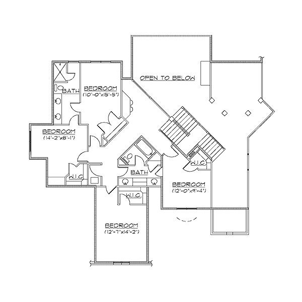House Plan Design - European Floor Plan - Upper Floor Plan #5-405