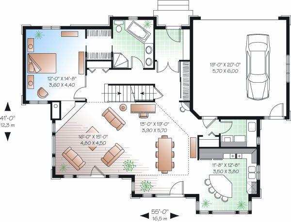 Traditional Floor Plan - Main Floor Plan Plan #23-727