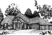 European Style House Plan - 4 Beds 3.5 Baths 3138 Sq/Ft Plan #310-106 Exterior - Front Elevation