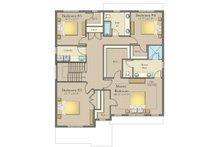Craftsman Floor Plan - Upper Floor Plan Plan #1057-14