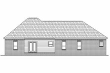 Southern Exterior - Rear Elevation Plan #21-126