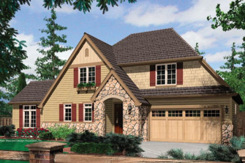 Craftsman Exterior - Front Elevation Plan #48-372