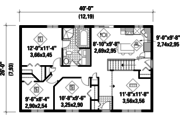 Country Style House Plan - 3 Beds 1 Baths 1040 Sq/Ft Plan #25-4835 Floor Plan - Main Floor Plan
