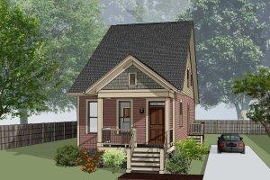 Cottage Exterior - Front Elevation Plan #79-177