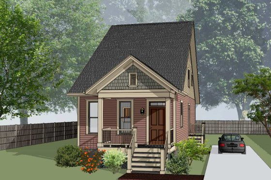 Cottage Exterior - Front Elevation Plan #79-177