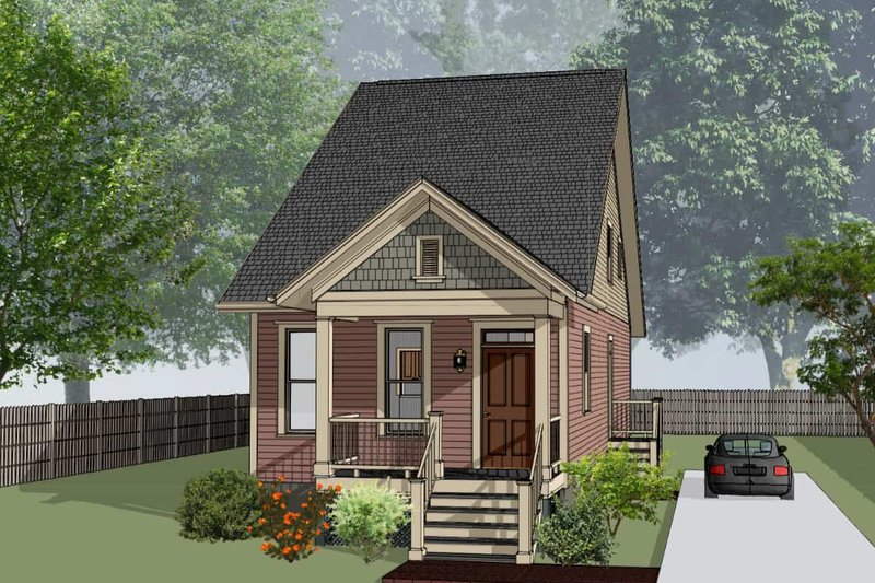 Cottage Style House Plan - 3 Beds 2 Baths 1412 Sq/Ft Plan #79-177