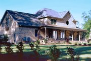Country Style House Plan - 4 Beds 3.5 Baths 3167 Sq/Ft Plan #929-12 Exterior - Rear Elevation