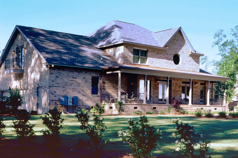 Country Exterior - Rear Elevation Plan #929-12 - Houseplans.com
