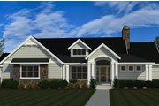 Craftsman Style House Plan - 4 Beds 2.5 Baths 2159 Sq/Ft Plan #920-124 Exterior - Front Elevation