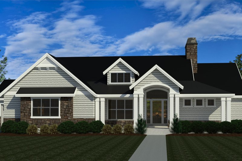 Architectural House Design - Craftsman Exterior - Front Elevation Plan #920-124