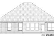 European Style House Plan - 4 Beds 2 Baths 2120 Sq/Ft Plan #84-568 Exterior - Rear Elevation