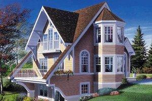 Cottage Exterior - Front Elevation Plan #23-505