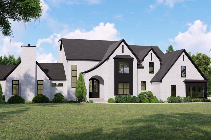 Architectural House Design - European Exterior - Front Elevation Plan #1064-125
